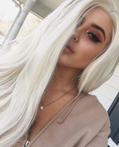 white blonde hair with bleach