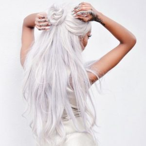 white hair maintenance