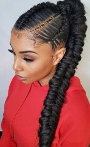 Goddess Braids ponytail