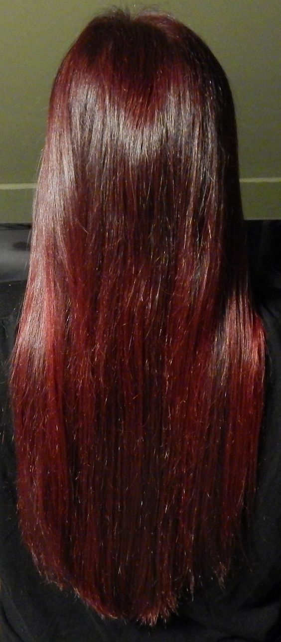 Vampire Red on Unbleached Hair