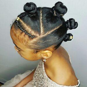 bantu knots updo