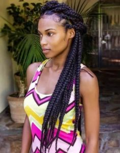 Pulled Back ox Braids