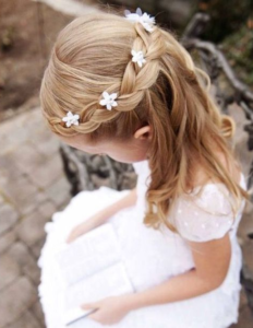 braided headband with flowers