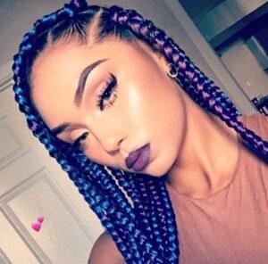 cool rainbow braids