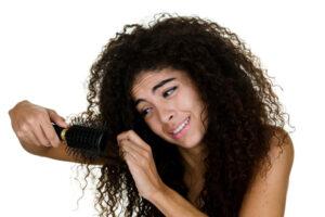 don't brush dry hair