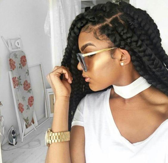Braid Out On Thin Natural Hair