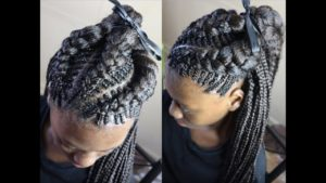 extra thick fishbone braids with weave