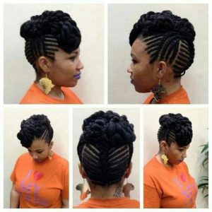 fishbone braided updo