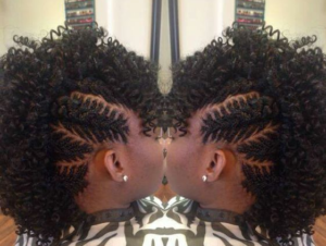 fishbone braids mohawk