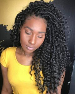 goddess locs and curls