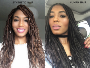 goddess locs human vs synthetic hair
