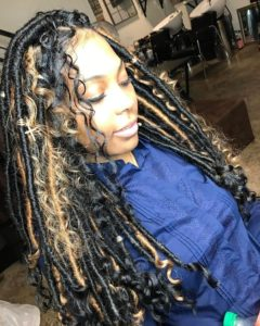 goddess locs with loose tendrils