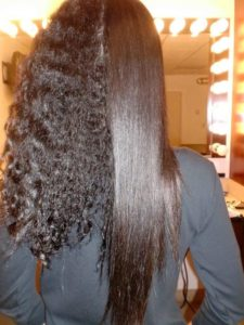 half and half keratin treatment