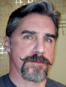 handlebar with goatee