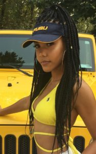 high ponytail box braids