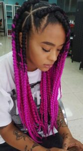 pink ombre braids
