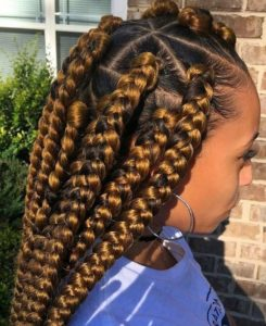 jumbo honey blonde braids