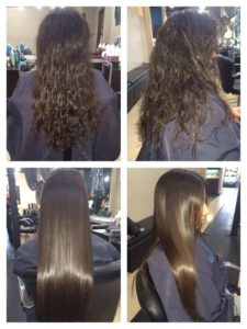 keratin treatment waves to silk