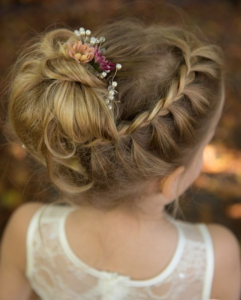 lace braided headband updo