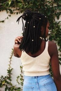 medium box braids with beads