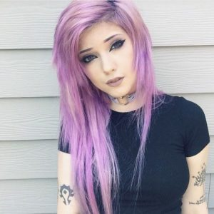 pastel lilac shag