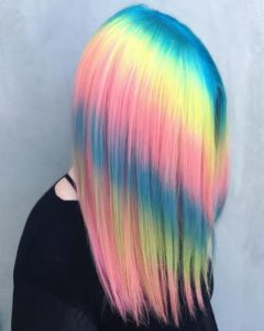 rainbow shine line hair