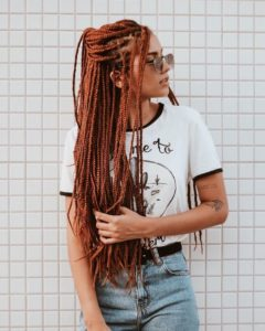 red longbox braids