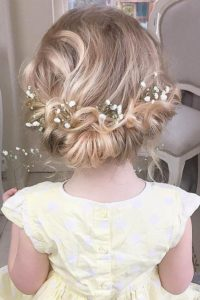 rolled updo babysbreath