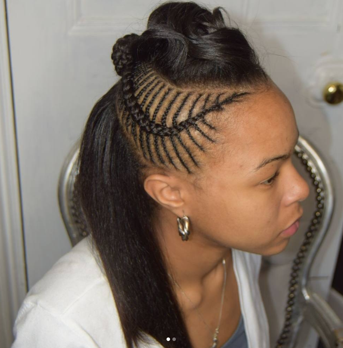 Fishbone braids black hair