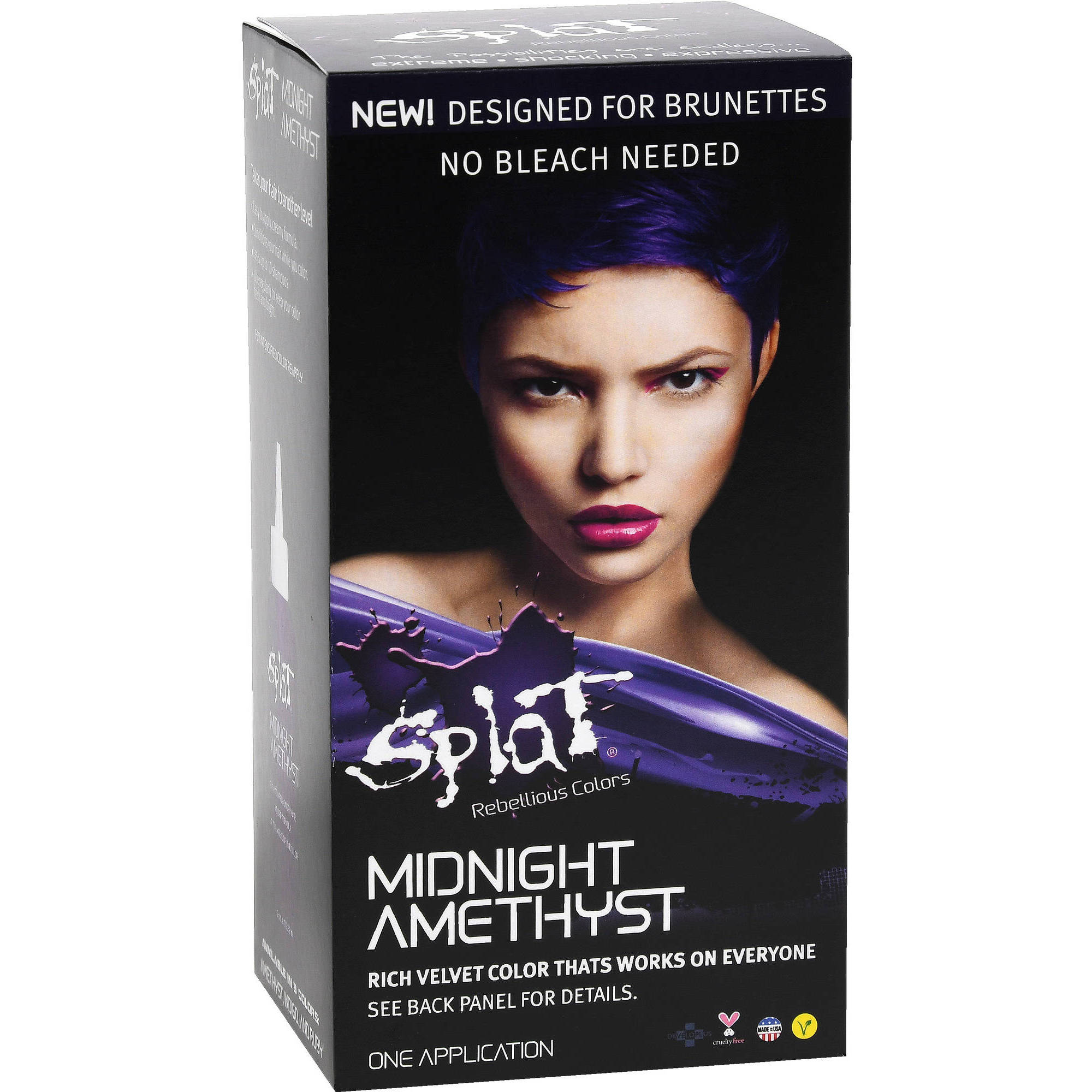 Midnight Amethyst Is The Purple Selection From Splat S No Bleach Color Designed Specifically For Brunettes If You Ve Got Medium To Dark Brown Hair