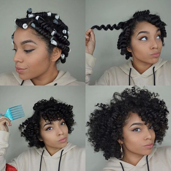 Perm Rod Curls Natural Hair