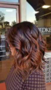 dark chestnut balayage