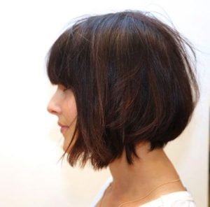 dark chestnut bob
