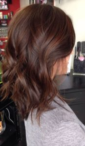 dark chestnut with caramel highlights