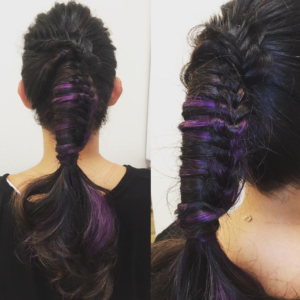 fancy ladder braid ponytail