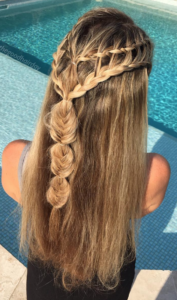 half up combination braid