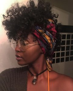 headscarf mohawk curls