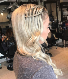 ladder braid bangs