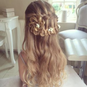 ladder braid flower bun