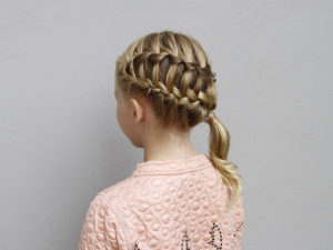 ladder braid side pony