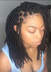 shoulder length faux locs