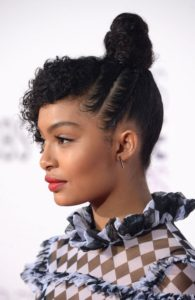 side twists top knot