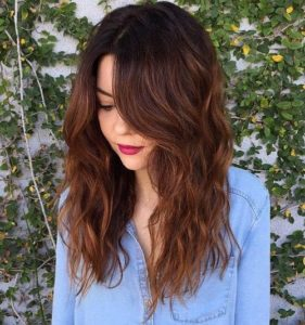 textured chestnut waves