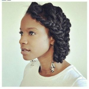 two strand twist side style