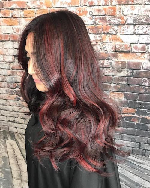 Red Highlights Ideas for Blonde, Brown and Black Hair ...