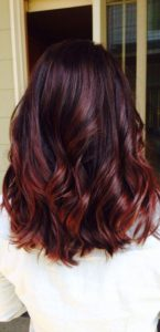 burgundy hair with red highlights