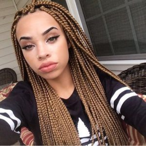 honey blonde individual braids