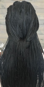 long loosely knotted micro braids