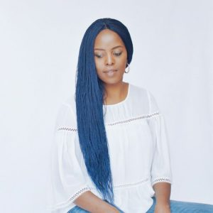 mermaid blue micro braids