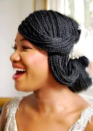 micro braids wedding updo